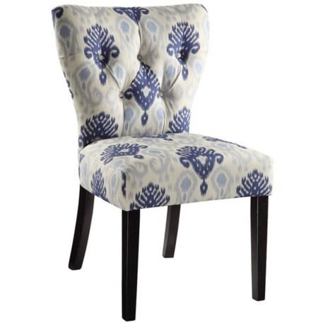 $191 Cute desk chair Ave Six® Andrew Medallion Ikat Blue Accent Chair