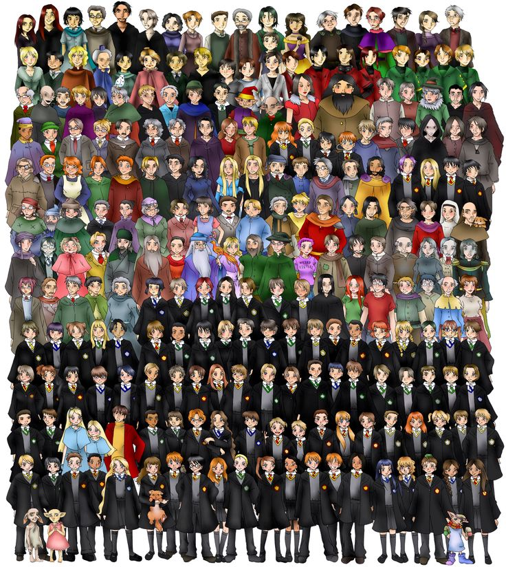 All the characters from Harry Potter - so cool!