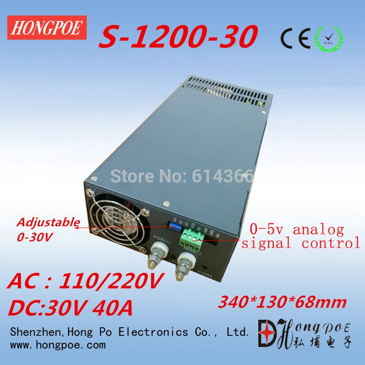 Free Shipping AC110 or 230V 0-5V analog signal control 0-30v adjustable power supply 30V 40A power supply 30V 1200W #Affiliate