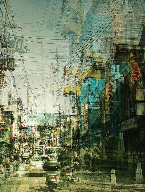 Multi-exposure of Japan, by Stephanie Jung
