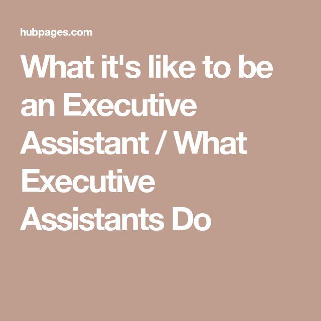 Best 25+ Executive assistant job description ideas on Pinterest - resident caretaker sample resume