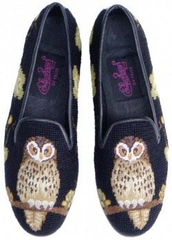X03369 Fox on Black Needlepoint Loafer
