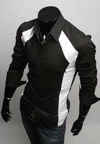 Camisa Casual Slim Fit - Dos Colores - Negra