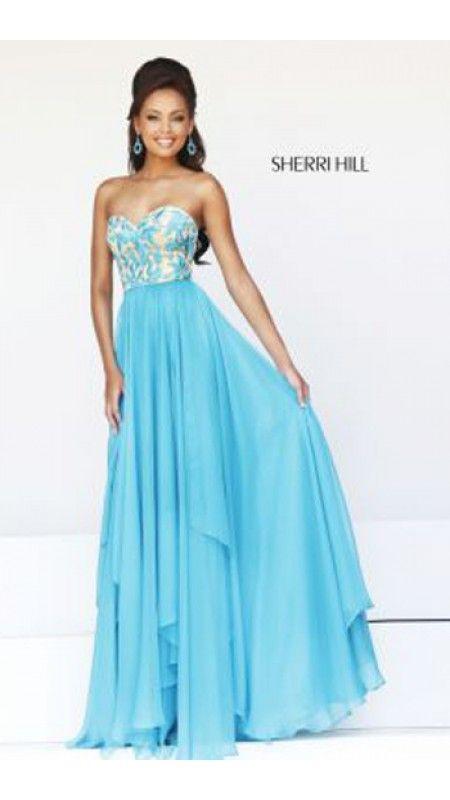 Turquoise Sherri Hill 1924 Sweetheart Prom Skirt