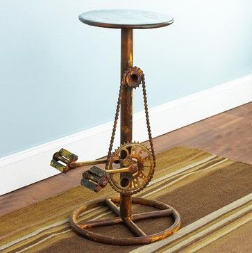 #Bicycle Stool  This would look so cool at a local coffee shop