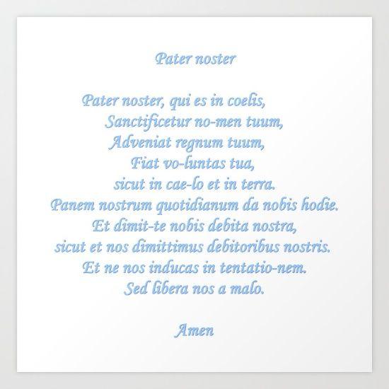 Pater noster  Pière Catholic to God the Father in latin Pière catholique envers Dieu le père en latin