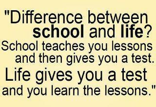 I have learned the biggest lesson in my life.: Difference, Quotes, Life Lessons, Funny, Wisdom, Schools Lessons, Truths, Favorite Recipes, True Stories
