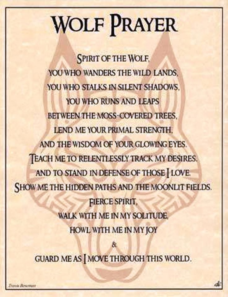 Wolf Prayer Book of Shadows Page or Poster Wicca Pagan Witchcraft picclick.com