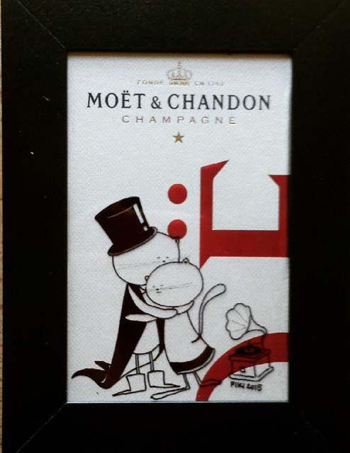 #Piki #Illustration #Love #Cats #Moet & #Chandon #Pen