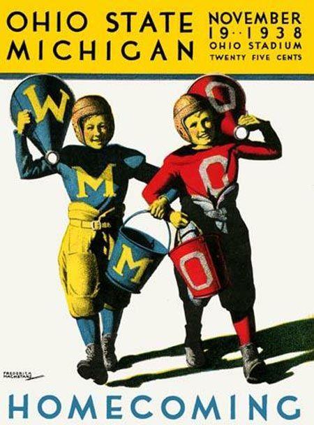 Ohio State vs Michigan official program (1938)