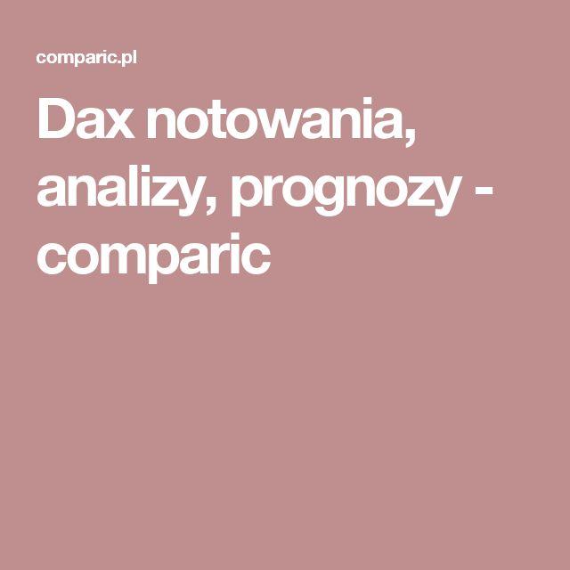Dax notowania, analizy, prognozy - comparic