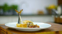 BBC Two - James Martin: Home Comforts, Series 2, Quick and Easy, Mackerel en croûte with gooseberry chutney