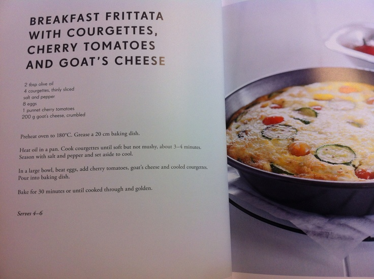 Breakfast Frittata with Courgette, Tomato and Feta