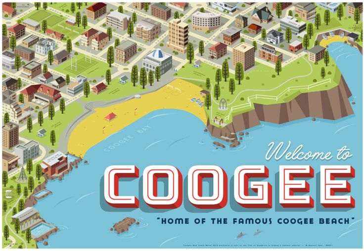 """""""Welcome to Coogee"""" Travel poster. 70 x 100cm available from: info@russelltate.com"""