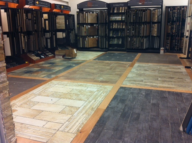 35 best images about flooring showroom on pinterest new for Showroom flooring ideas