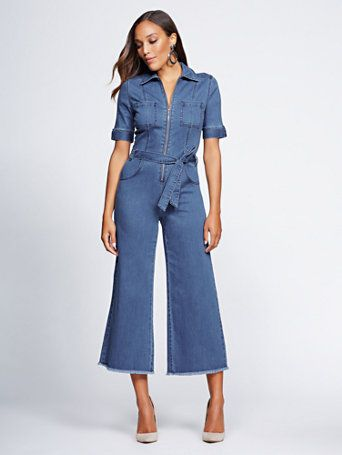 25a408f2a917 Shop Gabrielle Union Collection - Tall Denim Jumpsuit. Find your perfect  size online at the best price at New York   Company.