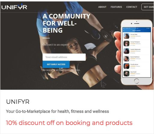 """Early birds, get the worm """"10% discount off on booking and products"""" from UNIFYR Your Go-to-Marketplace for health, fitness and wellness https://getworm.com/campaign/903?utm_medium=kuku&utm_campaign=polaroid&utm_source=pinterest #earlyadopters #lovethyuser #getworm"""
