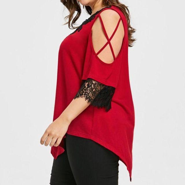 Tunic Lace Patchwork Cold Shoulder Clothes | Women's Fashion