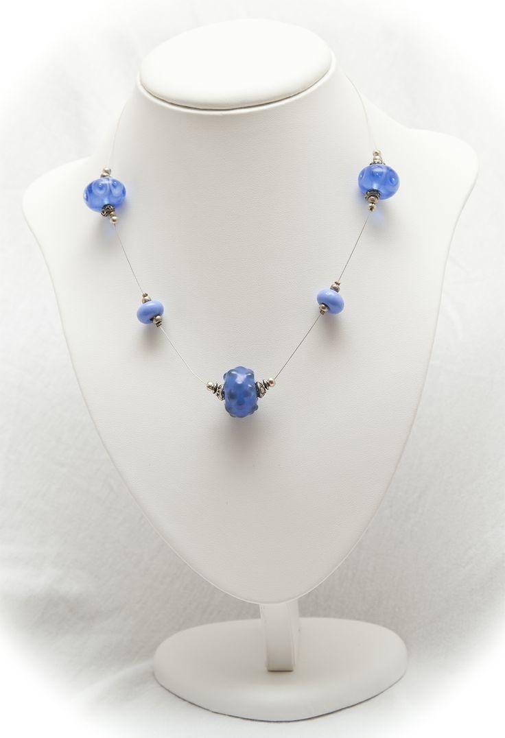 jacaranda blue floating necklace