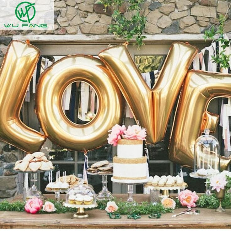 "Cheap decoration garden party, Buy Quality party city wedding decorations directly from China decoration for party Suppliers: 16"" Gold Silver LOVE Helium Foil Ballons Letter Baloon Wedding Party Valentine's day Decoration Holiday Decorations"