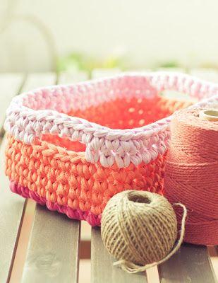 Gallimelmas and Imaginancias: Craft Project: rectangular baskets trapillo