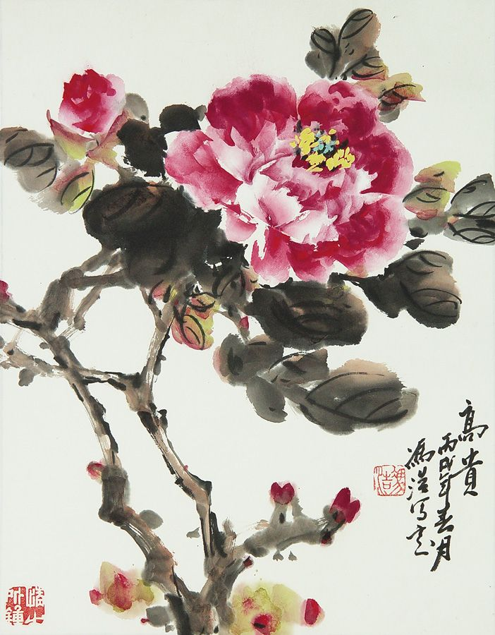 best chinese paintings images on, Natural flower
