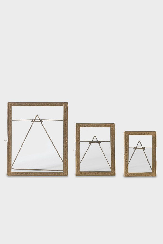 double sided picture frame standing brass - Double Sided Frames