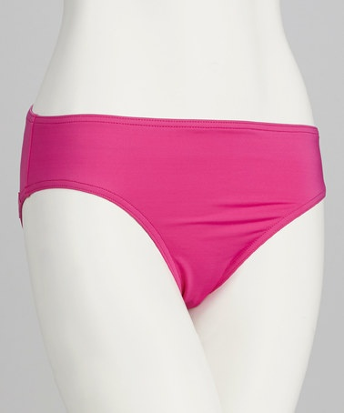 Take a look at this Sorbet Pink High-Waisted Bikini Bottoms by Jag Swim on #zulily today!