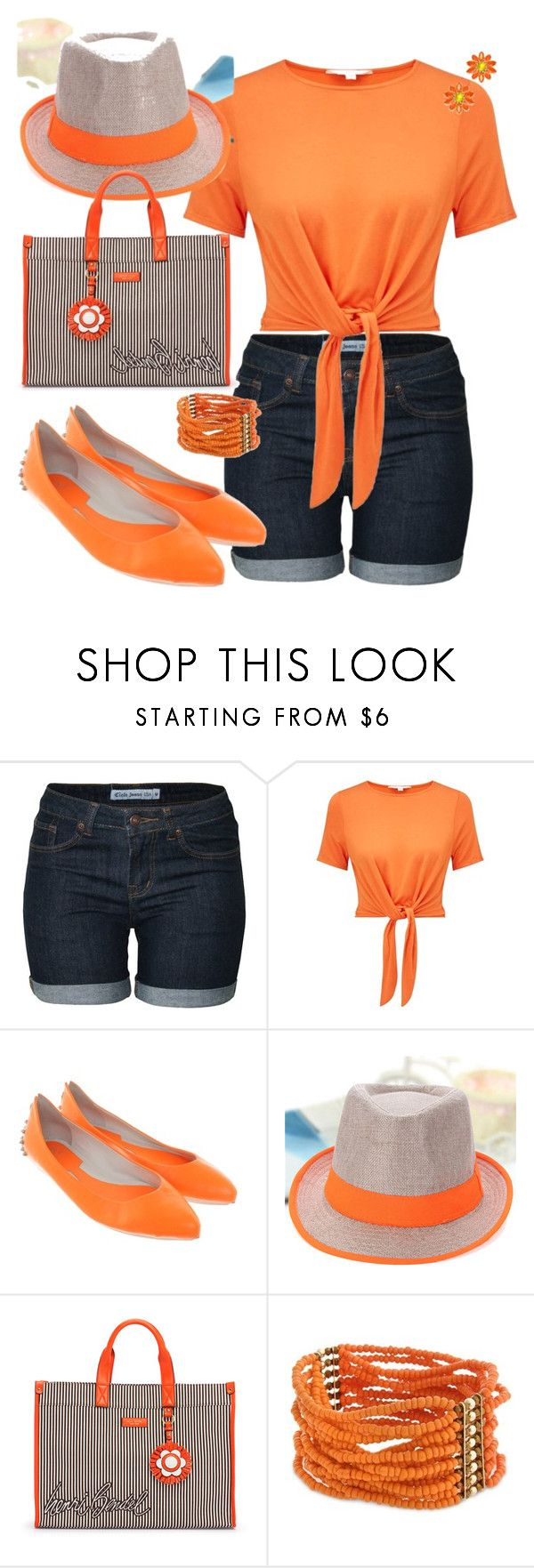 """orange"" by traceyenorton ❤ liked on Polyvore featuring Miss Selfridge, McQ by Alexander McQueen, Henri Bendel, Curvy Chic, Kate Spade, orangeoutfit and popsoforange"