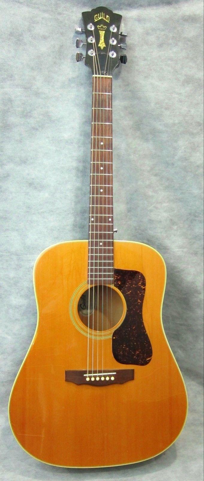 Vintage Guild Acoustic Guitar Model G37nt 1979 Arch Back Dark Back Clean W Case Guild Acoustic Guitars Guild Guitars Guitar
