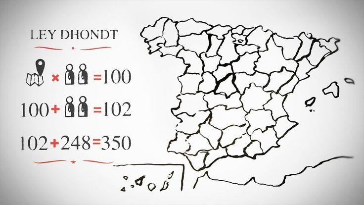 En España los 350 escaños del Congreso se reparten de forma proporcional, aplicando la Ley d'Hondt. Cada una de las 50 provincias representa una circunscripción, que tiene asignado