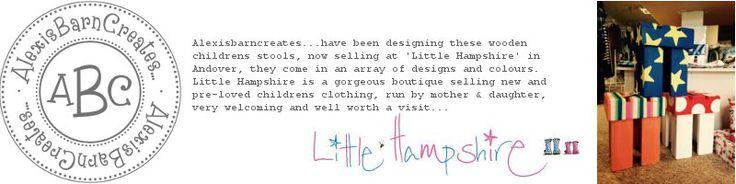 Designer Childrens Stools...www.alexisbarncreates.com