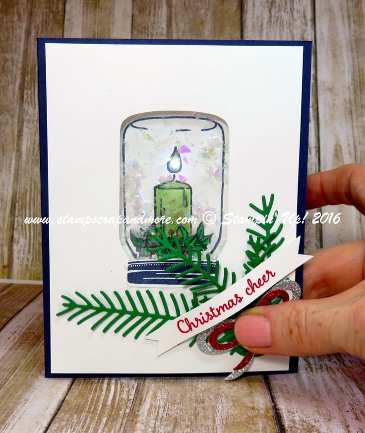 Jar of Cheer, Light UP Card, Stampin' Up!   Press on the Bow to light the candle.