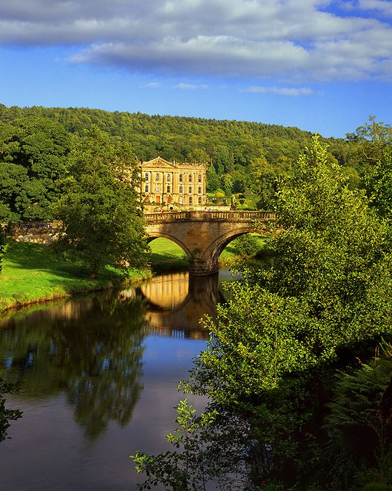 Chatsworth House, Derbyshire, UK seat of the Dukes of Devonshire. Chatsworth dates from the 16th century