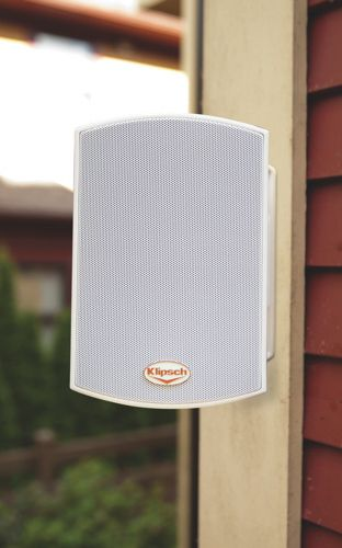 Klipsch Outdoor All-Weather Speakers are great for those who spend time in the backyard or patio while BBQing, gardening or lounging in the sun.