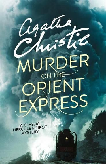 Murder on the Orient Express by Agatha Christie.  Just after midnight, a snowdrift stops the Orient Express in its tracks. The luxurious train is surprisingly full for the time of the year, but by the morning it is one passenger fewer. An American tycoon lies dead in his compartment, stabbed a dozen times, his door locked from the inside. Isolated and with a killer in their midst, detective Hercule Poirot must identify the murderer - in case he or she decides to strike again.