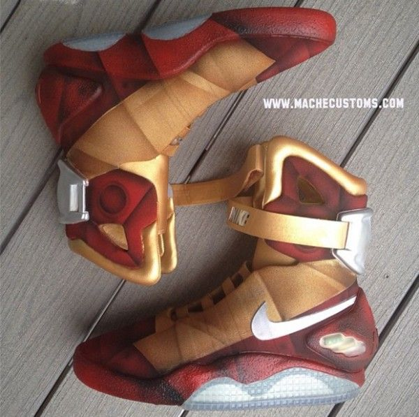 "Nike Air Mag ""Iron Mag"" Custom by Mache"