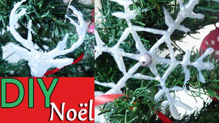 DIY : Décoration de Noël # 2 : Flocon de neige et tête de renne