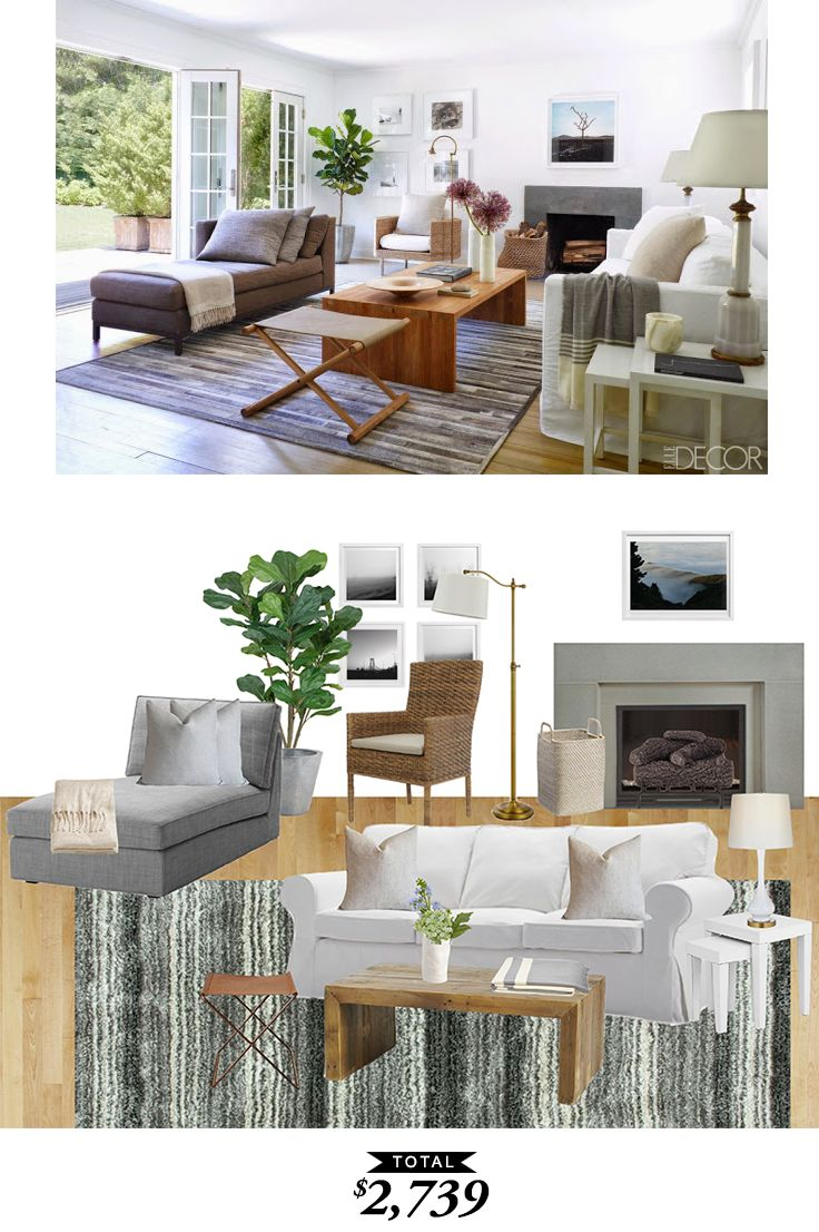 A perfectly neutral hamptons living room via elledecor for Living room 983