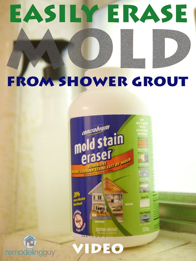 concrobium 39 s mold stain eraser product does an amazing job on shower grout see how easy it is. Black Bedroom Furniture Sets. Home Design Ideas