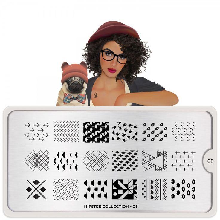 Kiss & Geo; Hipster Nail Art Design 08