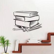 EHOME Twórcze Ścianie Wzór Dekoracji Wnętrz Naklejki Ścienne Winylowe Naklejki Samoprzylepne Naklejki Książki Dla Dzieci Sypialnia(China)