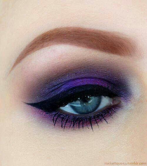 Purple eyeshadow #smokey #dark #bold #eye #makeup #eyes #dramatic
