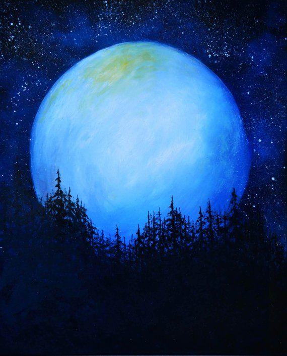 Original Oil Fantasy Space Landscape Painting Wall Decor Etsy Fantasy Landscape Fantasy Art Landscapes Moonlight Painting