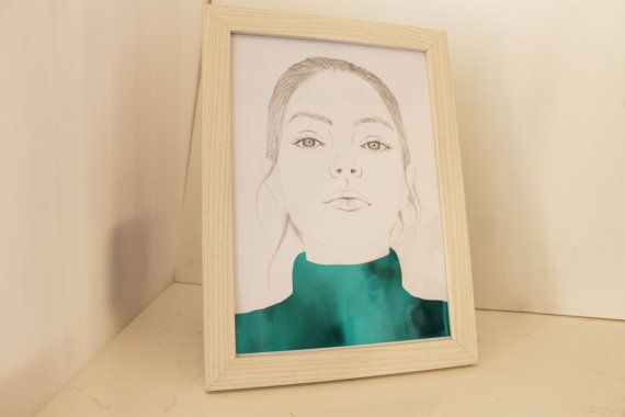 Metallic Art Portrait  One of a kind by cintarose on Etsy