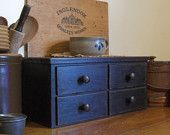 Primitive Toaster Cover 4 Drawer Apothecary Style Kitchen Storage / Lamp Black / Color Choice / Farmhouse Favorite