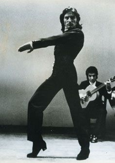 Antonio Gades, perhaps the best Flamenco dancer of the era.   Performing the his beloved Farruca: http://youtu.be/fBefsNiLrhg