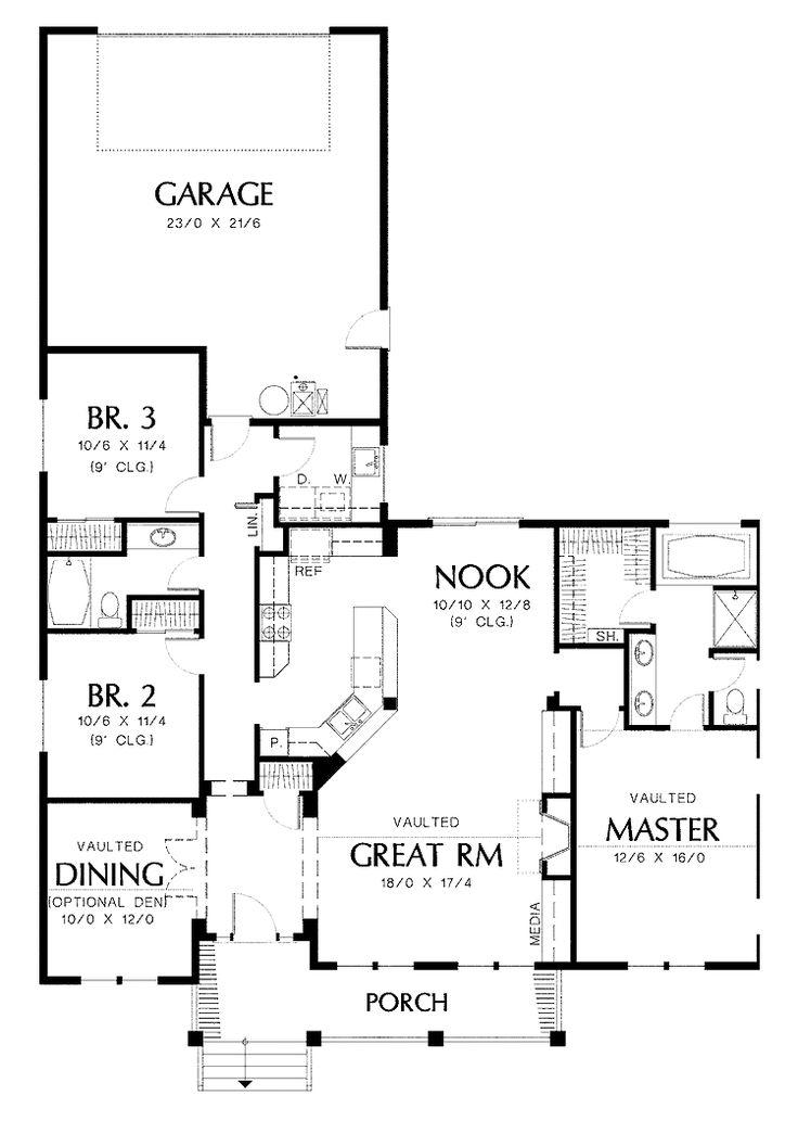 Awesome Rear Garage House Plans