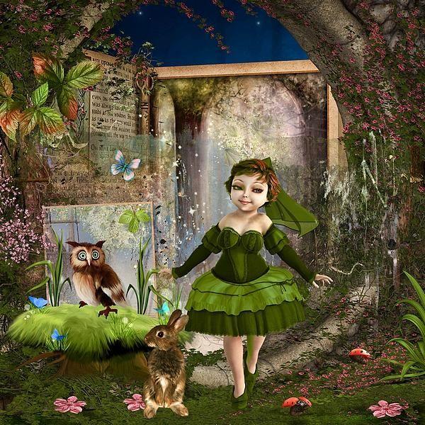 La Princesse au bois Dormant by Kitty Scrap Template by Pinkadoo Designs