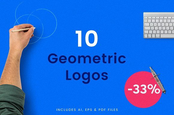 10 Bold Geometric Logos - 33% OFF by THE WERK on @creativemarket